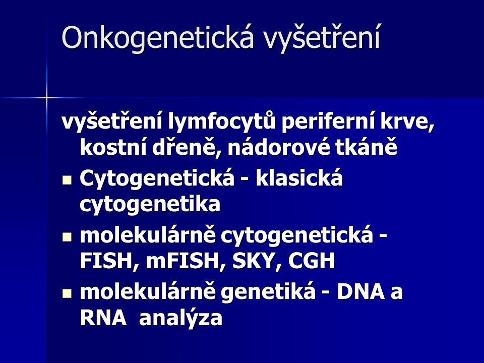 Onkogenetická vyšetření