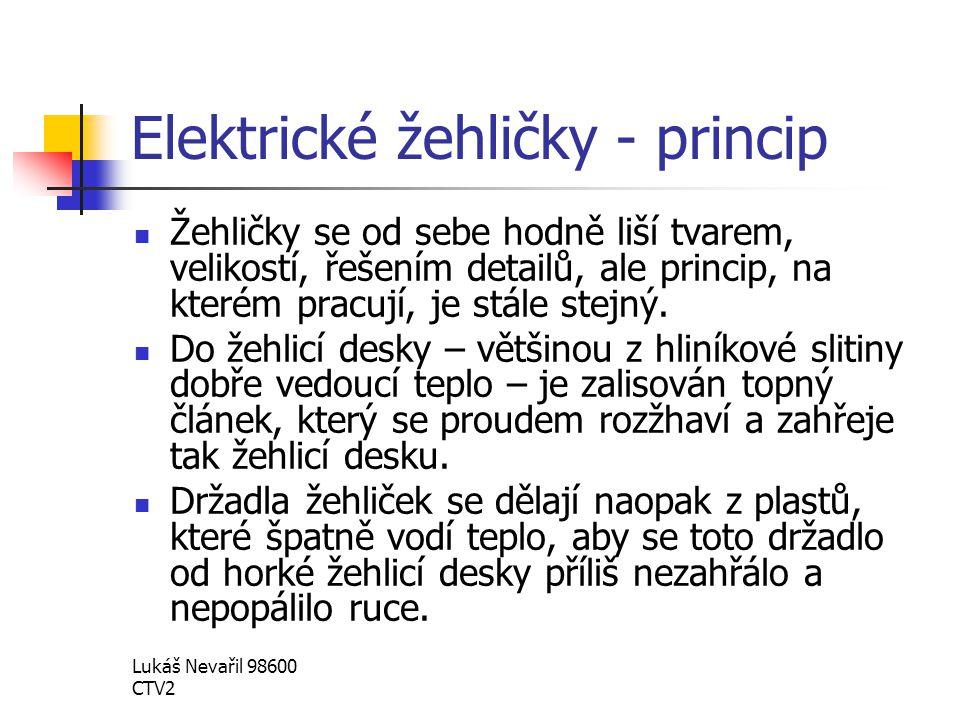 Elektrické žehličky - princip