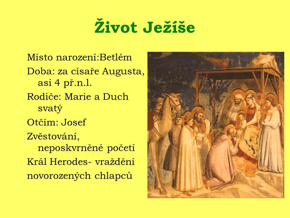 Život Ježíše Místo narození:Betlém