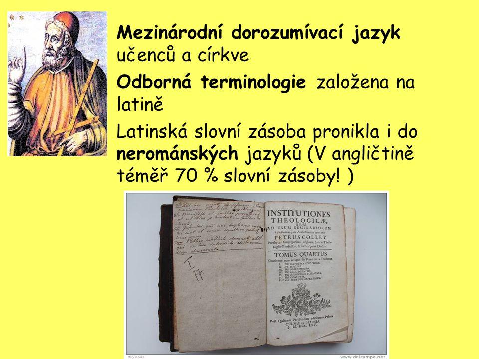 Mezinárodní dorozumívací jazyk učenců a církve