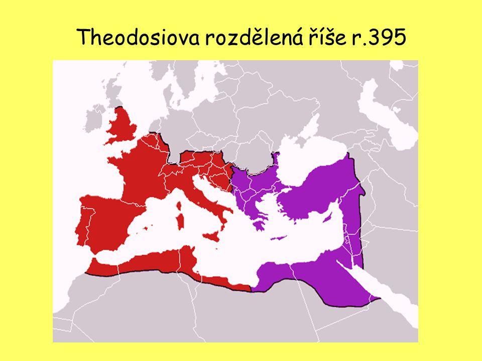 Theodosiova rozdělená říše r.395