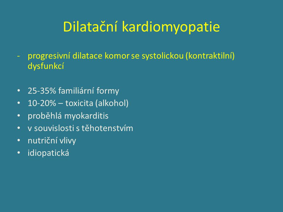 Dilatační kardiomyopatie