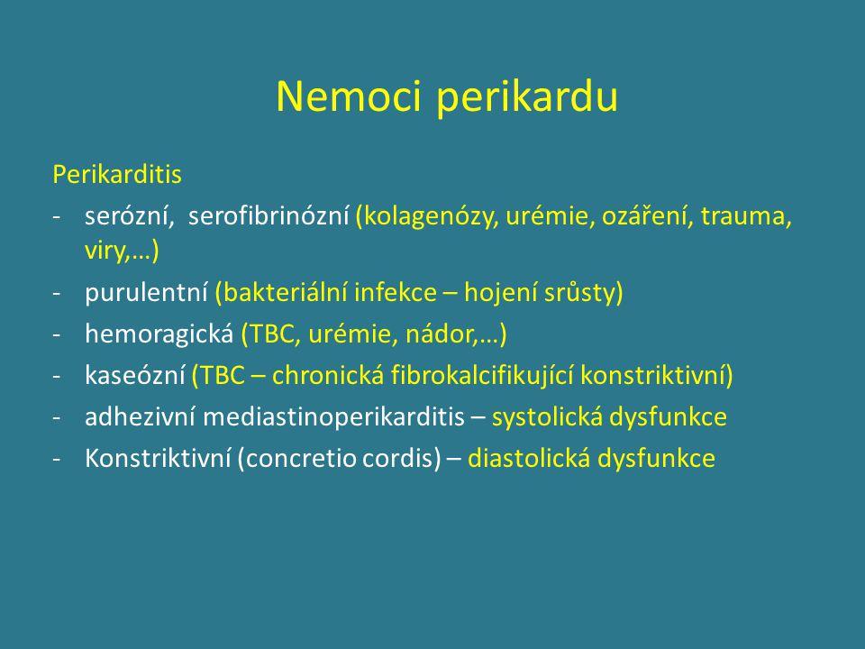Nemoci perikardu Perikarditis