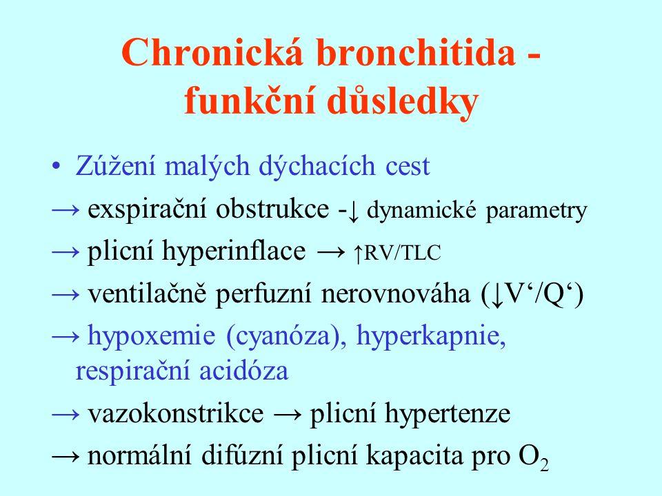 Chronická bronchitida - funkční důsledky
