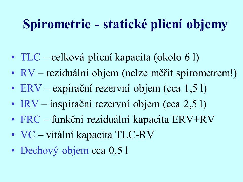 Spirometrie - statické plicní objemy