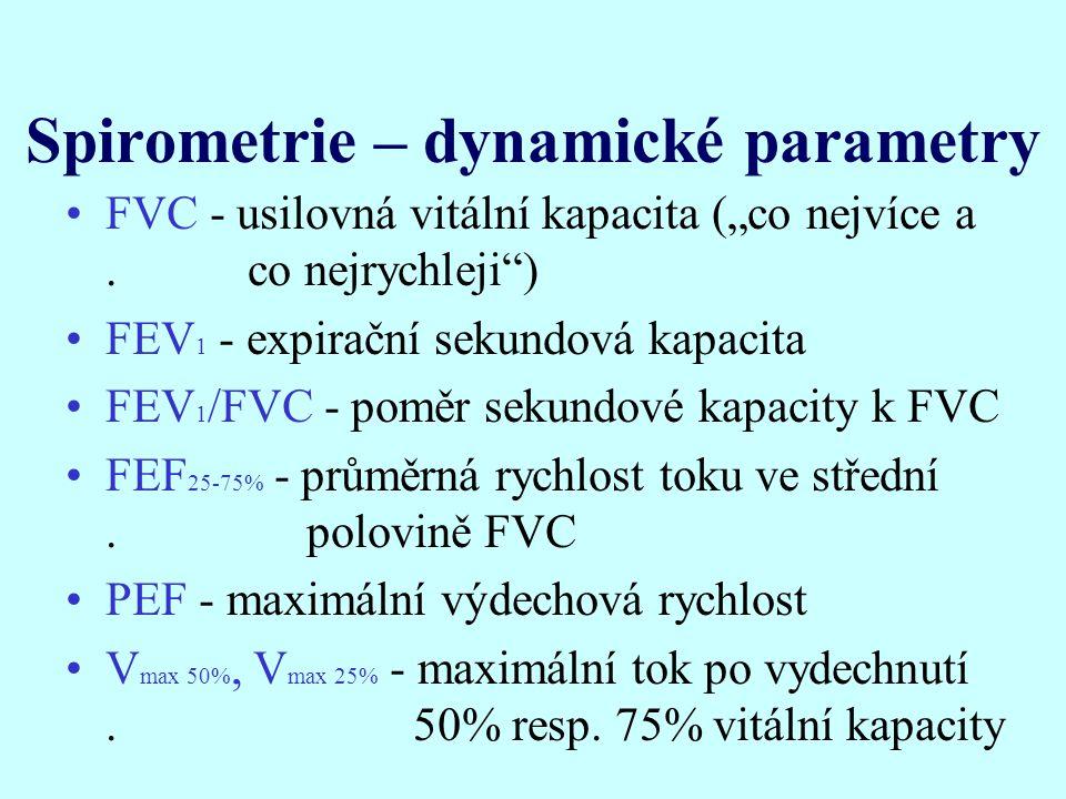 Spirometrie – dynamické parametry