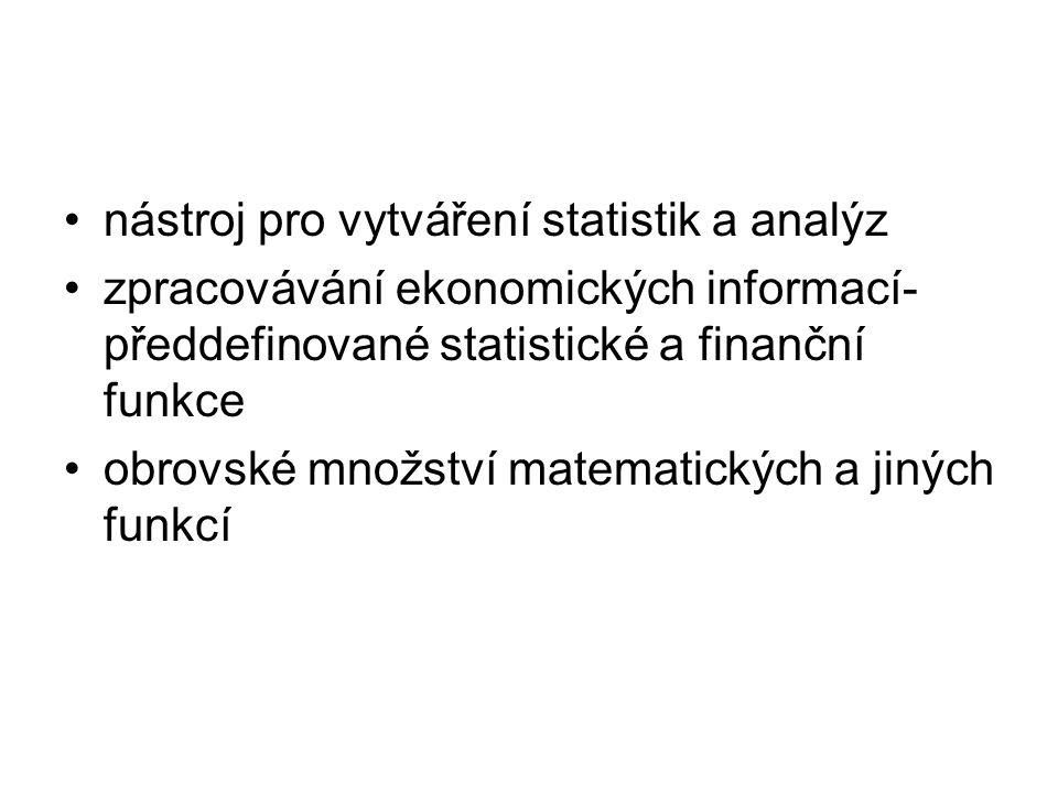 nástroj pro vytváření statistik a analýz