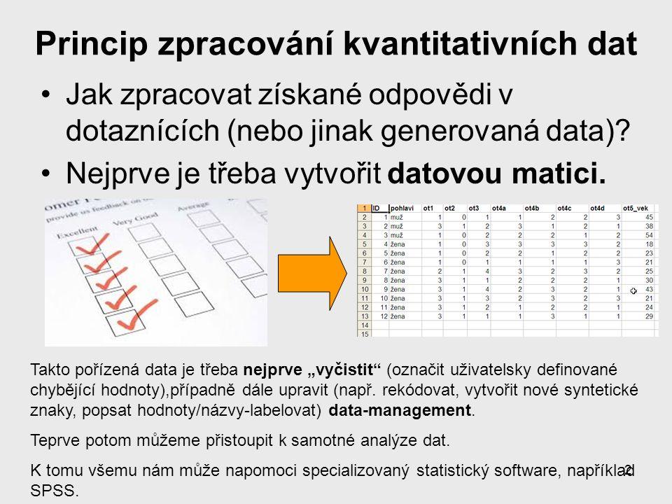 Princip zpracování kvantitativních dat