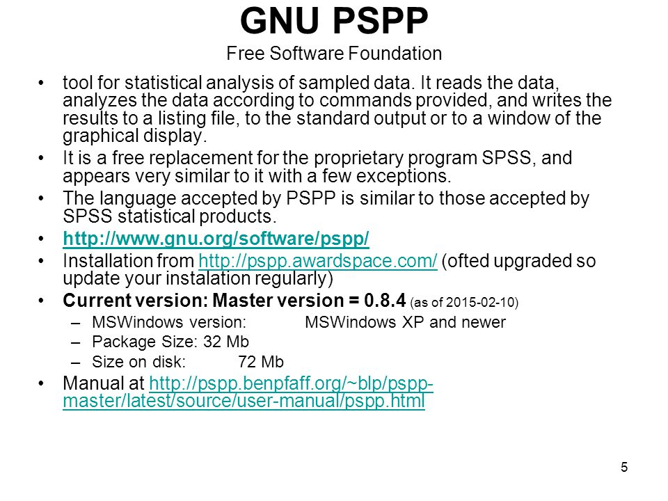 GNU PSPP Free Software Foundation