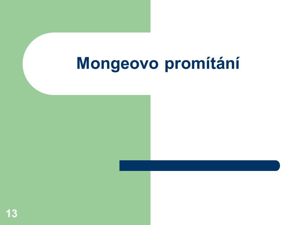Mongeovo promítání