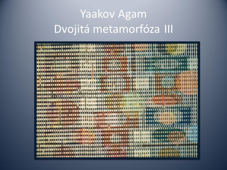 Yaakov Agam Dvojitá metamorfóza III