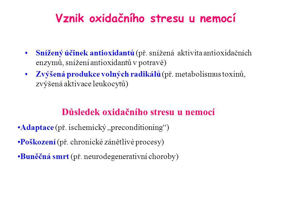 Vznik oxidačního stresu u nemocí