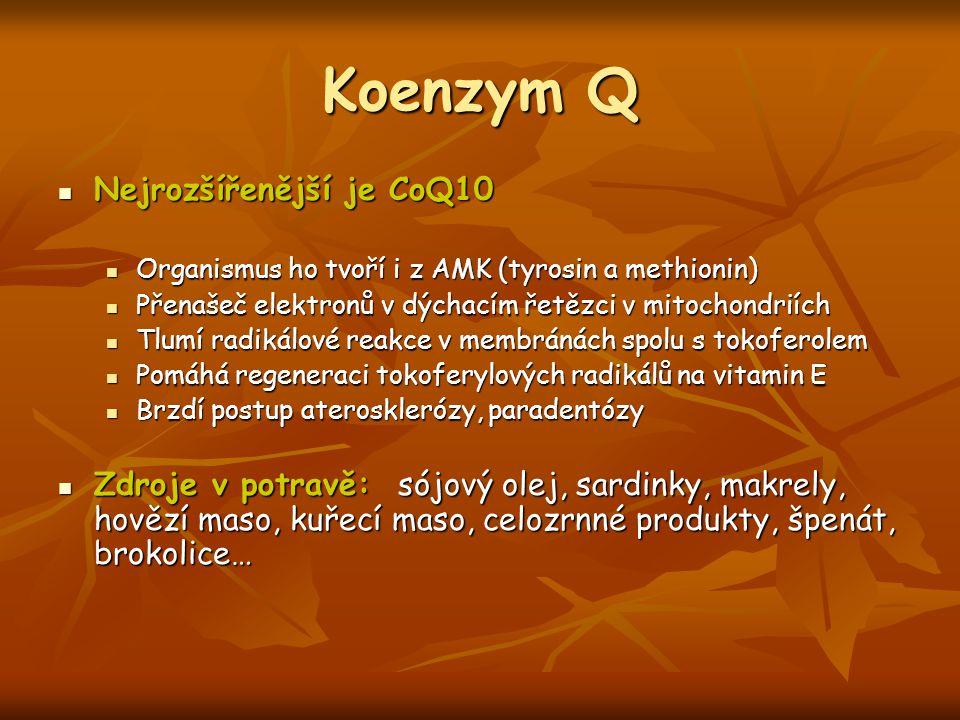 Koenzym Q Nejrozšířenější je CoQ10