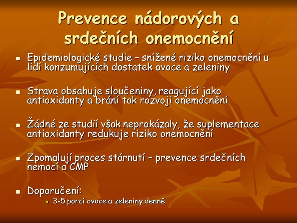 Prevence nádorových a srdečních onemocnění