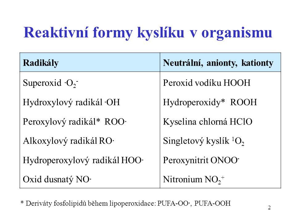 Reaktivní formy kyslíku v organismu