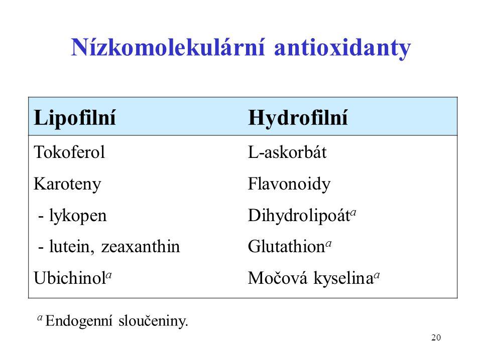 Nízkomolekulární antioxidanty