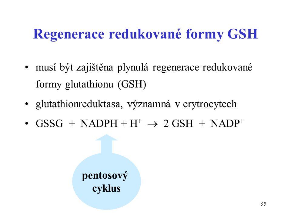 Regenerace redukované formy GSH
