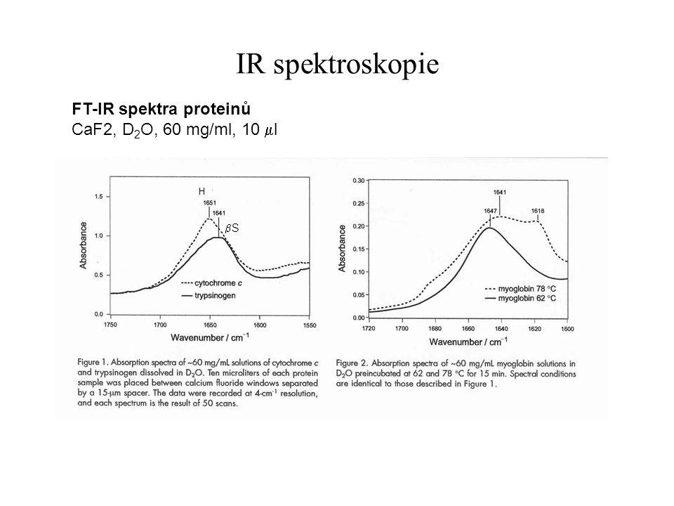 IR spektroskopie FT-IR spektra proteinů CaF2, D2O, 60 mg/ml, 10 ml bS
