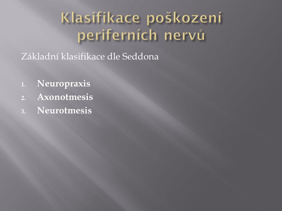 Klasifikace poškození periferních nervů