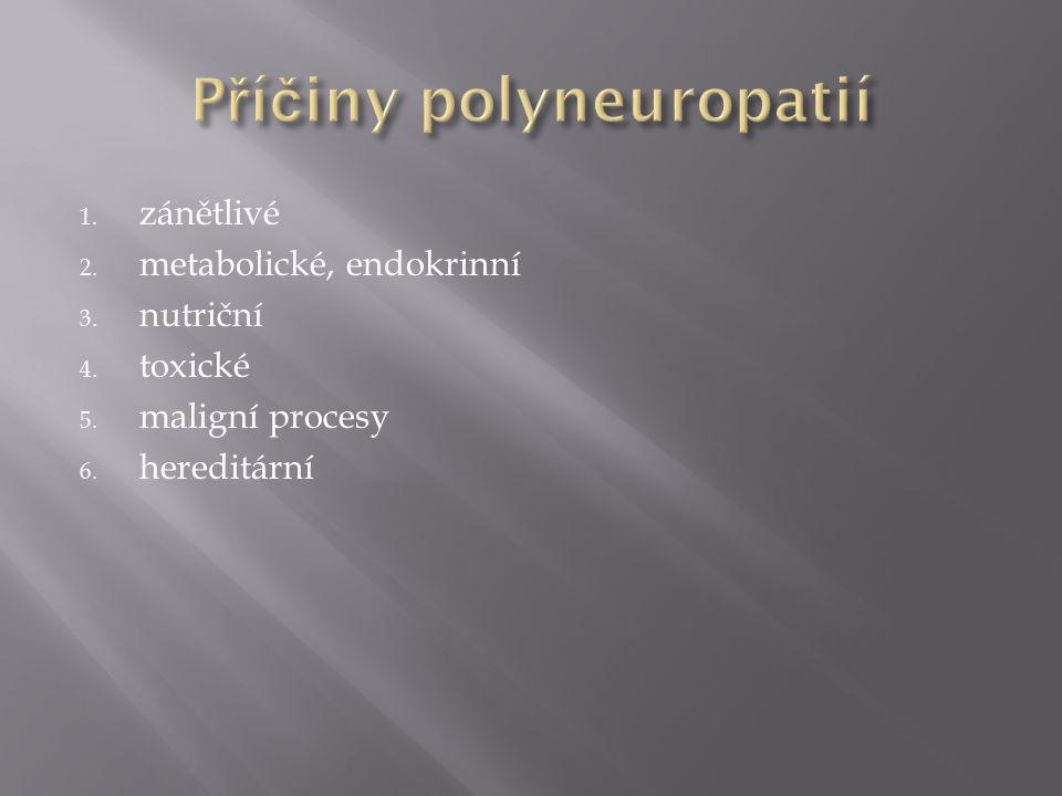Příčiny polyneuropatií