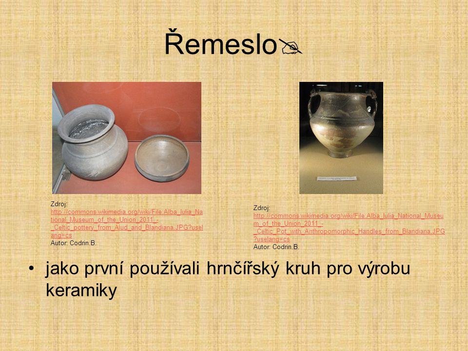 Řemeslo jako první používali hrnčířský kruh pro výrobu keramiky
