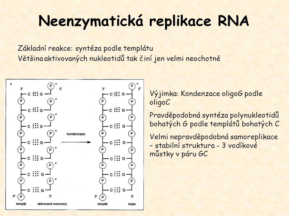 Neenzymatická replikace RNA