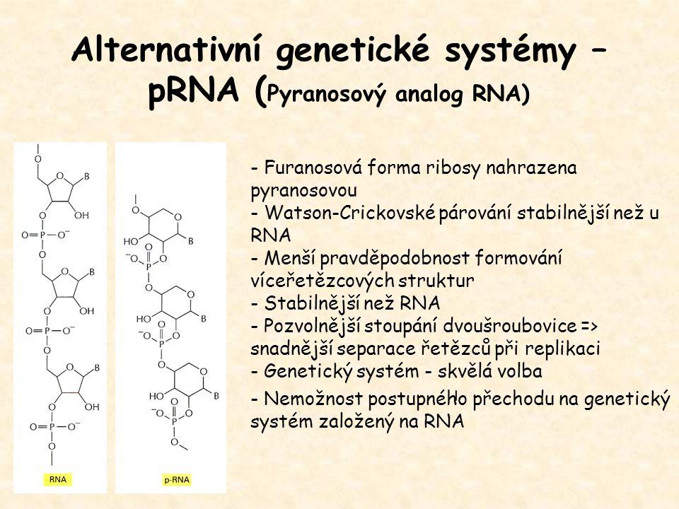 Alternativní genetické systémy – pRNA (Pyranosový analog RNA)