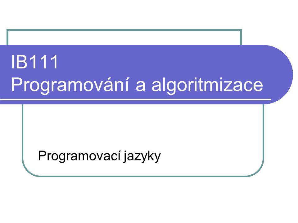 IB111 Programování a algoritmizace
