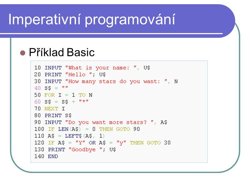 Imperativní programování