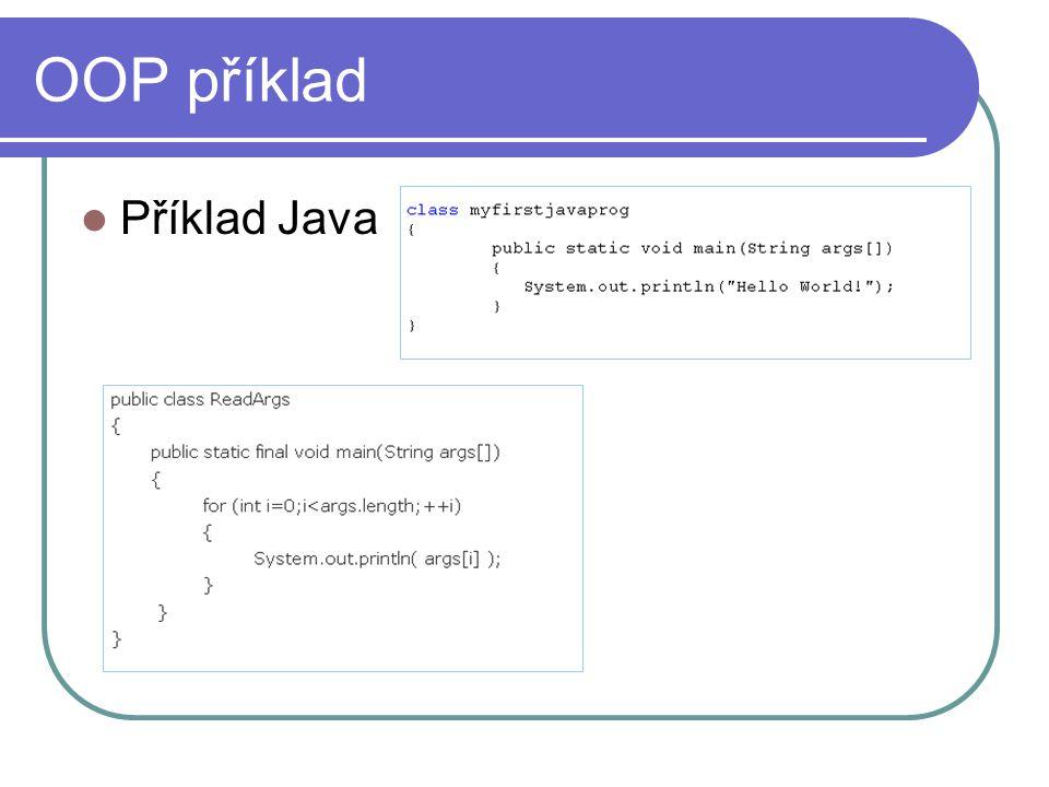 OOP příklad Příklad Java
