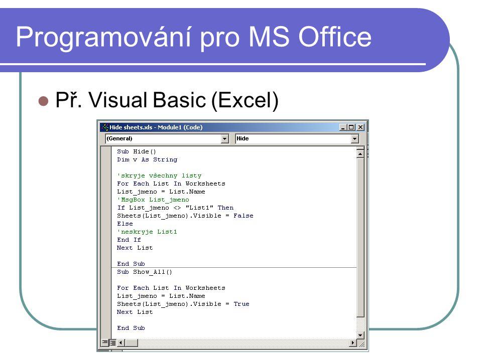 Programování pro MS Office