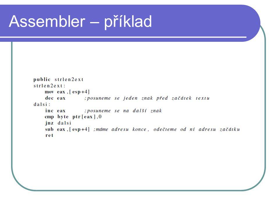 Assembler – příklad
