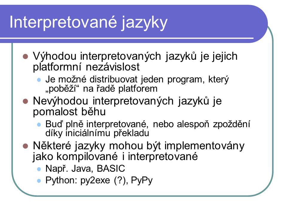 Interpretované jazyky