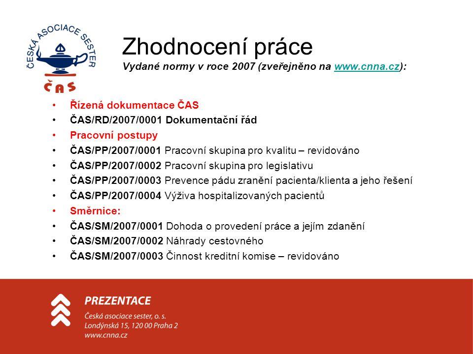 Zhodnocení práce Vydané normy v roce 2007 (zveřejněno na www.cnna.cz):