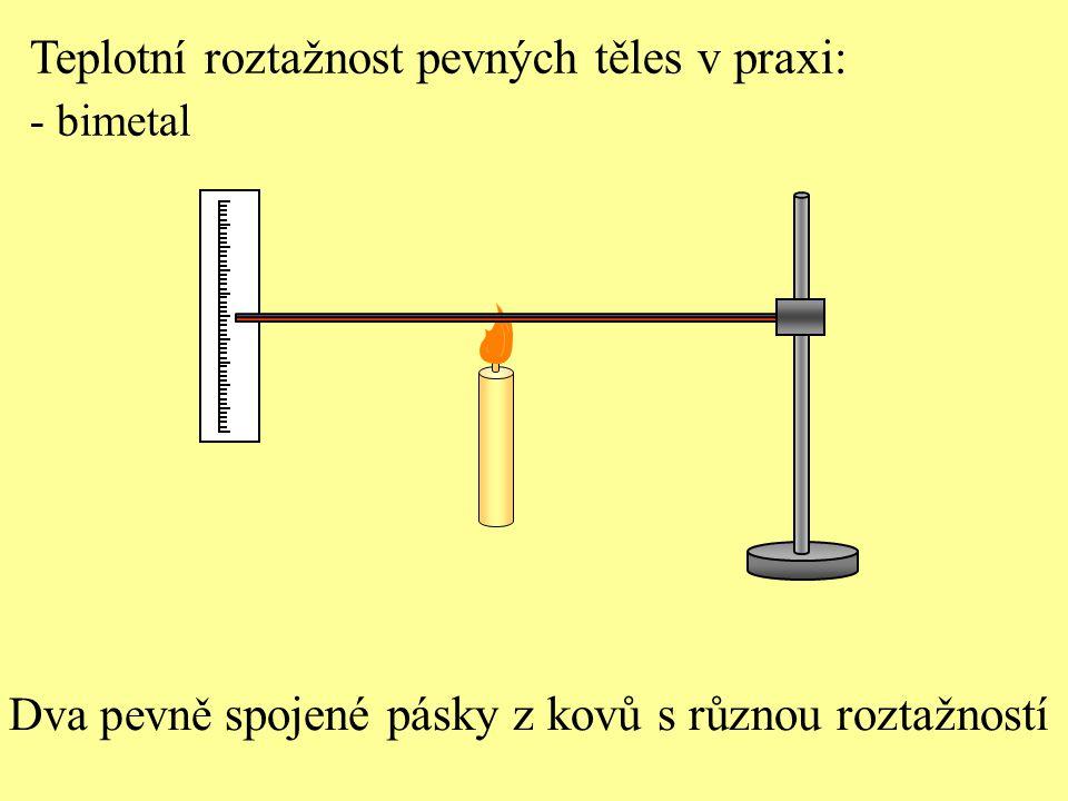 Teplotní roztažnost pevných těles v praxi: