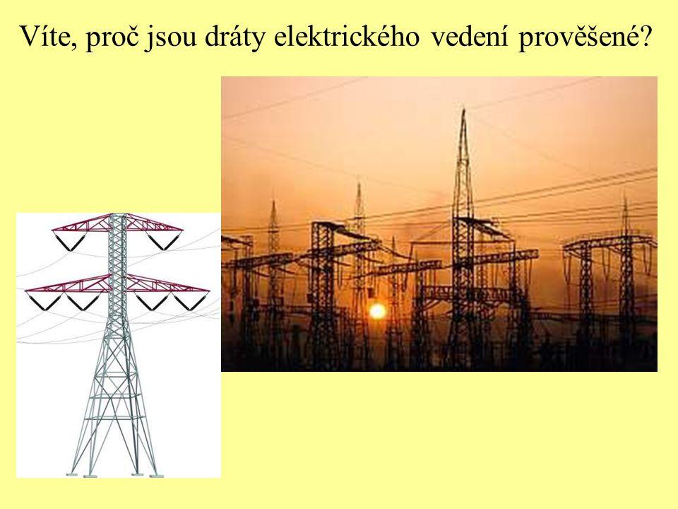 Víte, proč jsou dráty elektrického vedení prověšené