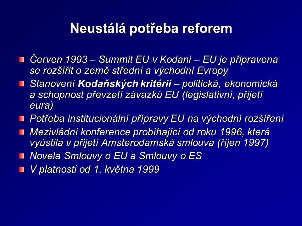 Neustálá potřeba reforem