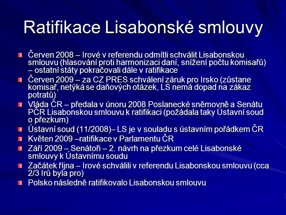 Ratifikace Lisabonské smlouvy