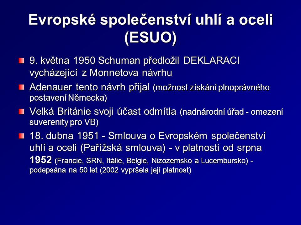 Evropské společenství uhlí a oceli (ESUO)