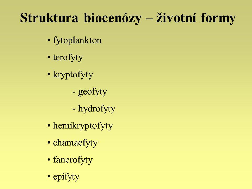 Struktura biocenózy – životní formy