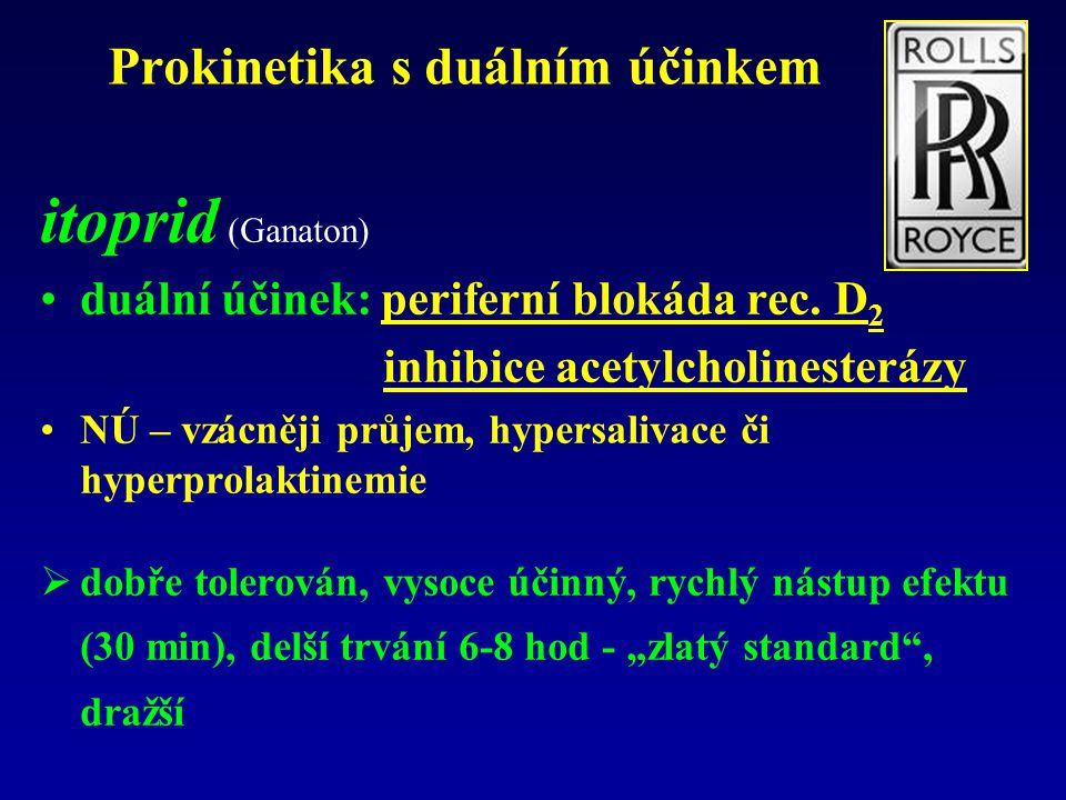 Prokinetika s duálním účinkem