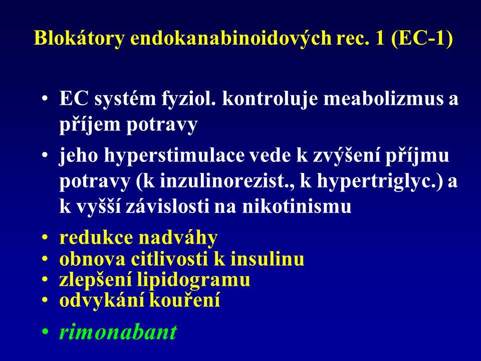 Blokátory endokanabinoidových rec. 1 (EC-1)