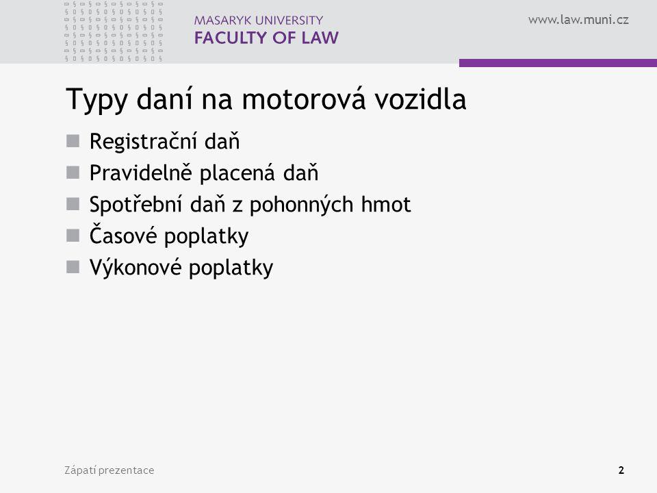 Typy daní na motorová vozidla