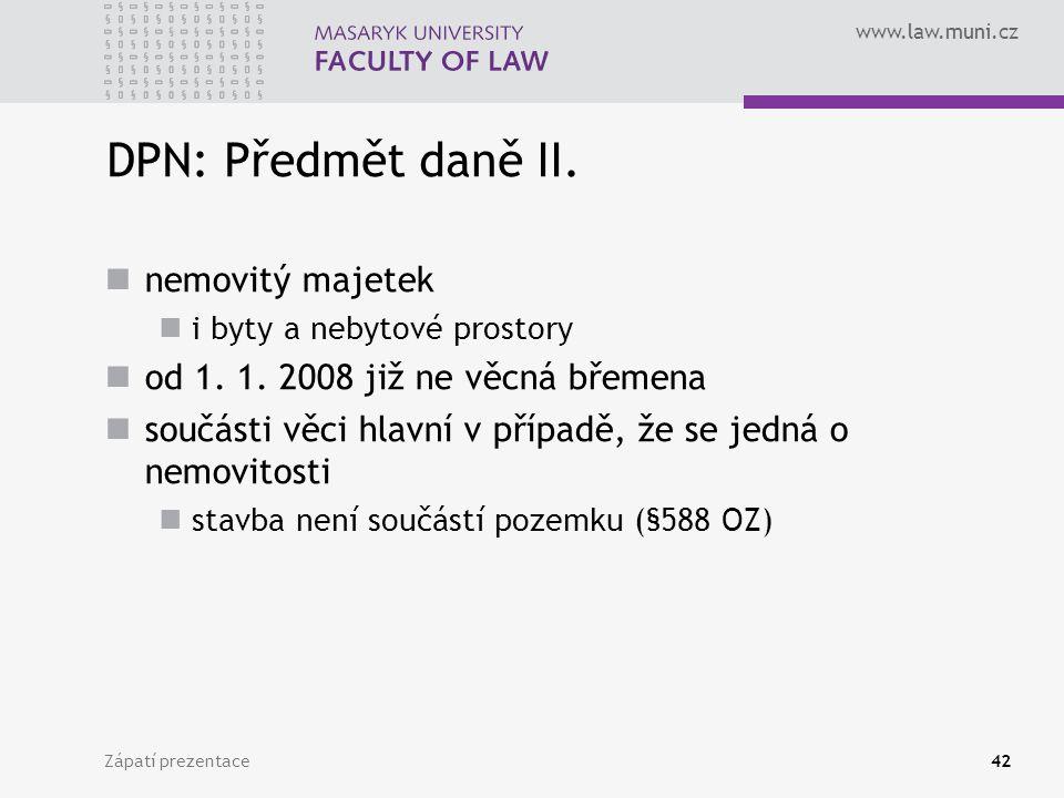 DPN: Předmět daně II. nemovitý majetek