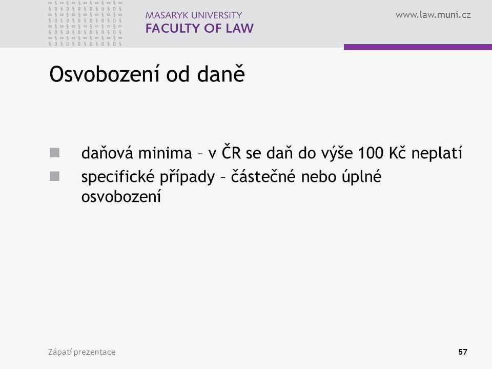 Osvobození od daně daňová minima – v ČR se daň do výše 100 Kč neplatí