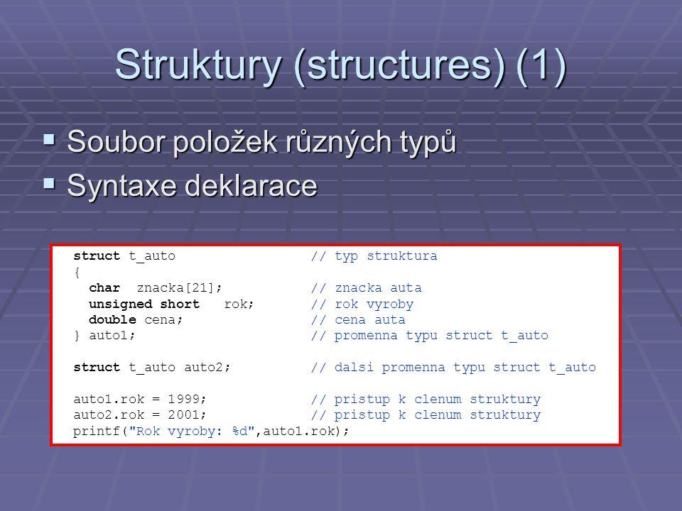 Struktury (structures) (1)