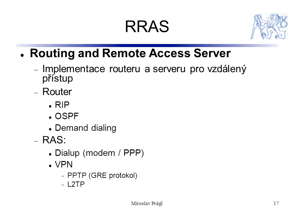 RRAS Routing and Remote Access Server