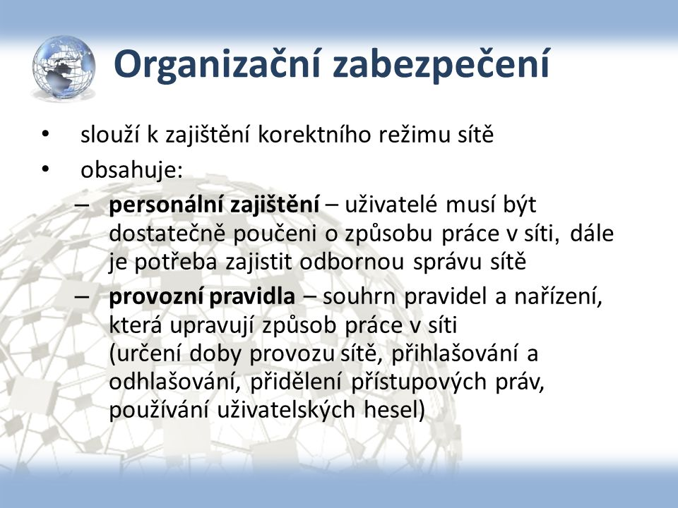 Organizační zabezpečení
