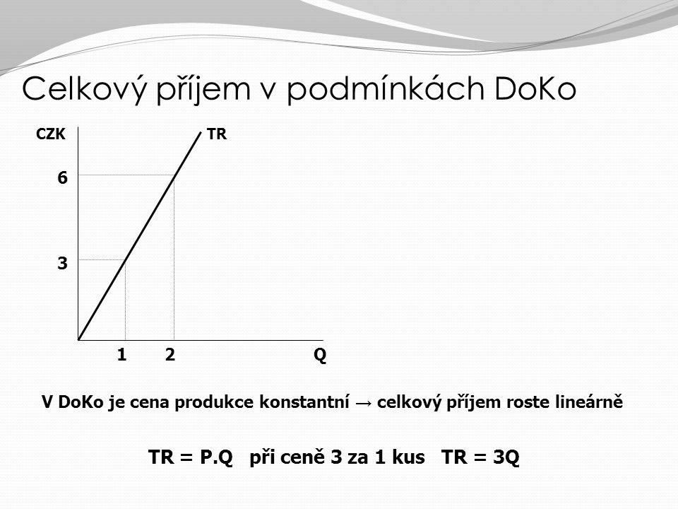Celkový příjem v podmínkách DoKo