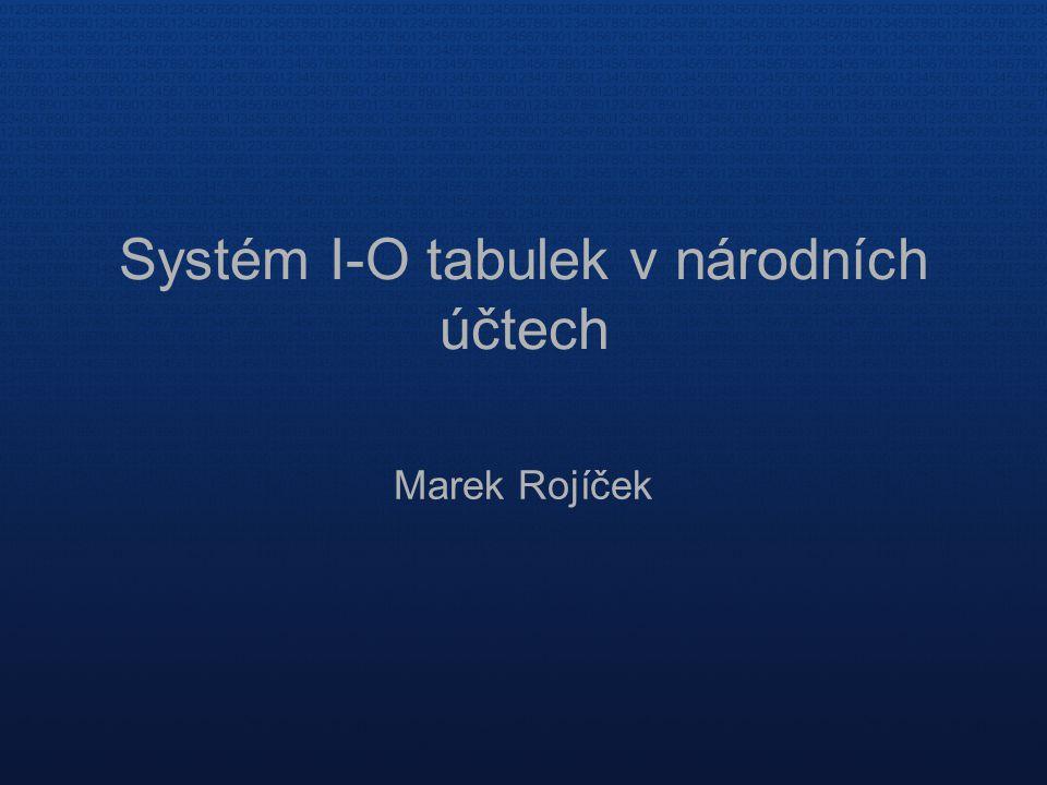 Systém I-O tabulek v národních účtech